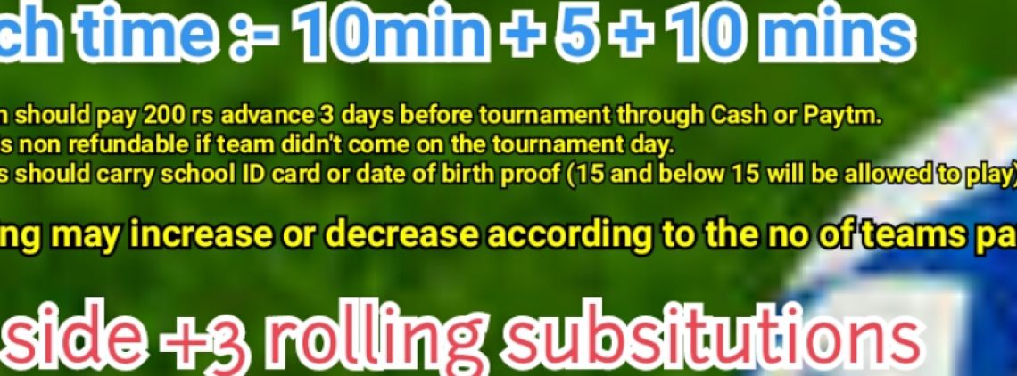 CAGE FOOTBALL TOURNAMENT 's profile