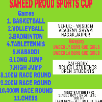 Saheed Proud inter school Sports cup's profile