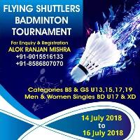 FLYING SHUTTLERS BADMINTON TOURNAMENT's cover