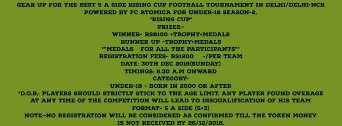 Rsising Cup Under -18's profile